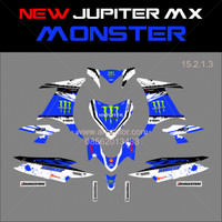 Sticker striping motor stiker Yamaha New Jupiter MX Monster Biru Spc B