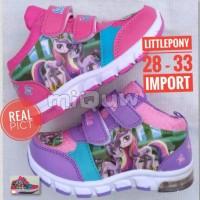 Jual sepatu anak little pony HIGH lampu led import + box Murah
