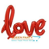 Jual balon foil love sambung merah / balon tulisan love / balon love letter Murah