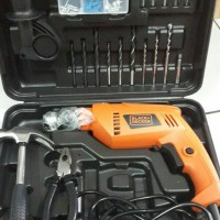 Bor tembok 13mm Hammer Drill 550W Black Decker HD555KOPR HD 555 HD555