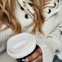 Long Sleeve V Neck Tangan Lonceng Broken White - Sweater Wanita