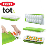 oxo tot baby food freezer tray green / tempat makan bayi