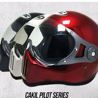 Best Helm Cakil Pilot Visor Retro Classic CC# KYT INK Centro Cross VES