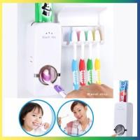 Dispenser Odol / Pasta Gigi dan Tempat Sikat - Toothpaste Dispenser