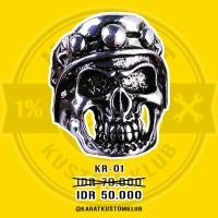 Skull Ring / Bikers Ring / Cincin Tengkorak Murah KR01 (Diskon)