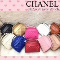 Tas Wanita Chanel Apple Free Pounch