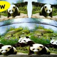 Jual Bed cover set panda 160x200 Queen size Murah
