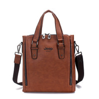 Cowhide Leather Portable Handbags Jeep Business Men Leisure Shoulder B