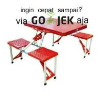 harga Meja Kursi Lipat Portabel Warna Merah/hijau/biru Tokopedia.com