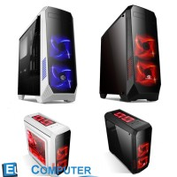 Kesing PC Gaming CUBE ELBRUS | Casing PC CUBE ELBRUS Black / White