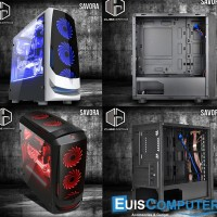 Kesing PC Gaming Cube Savora | Casing PC Cube Savora Black / White