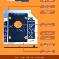 HDD Caddy untuk Laptop Asus ROG G750J