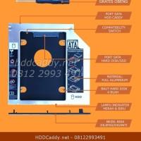HDD Caddy untuk Laptop FUJITSU Lifebook LH532