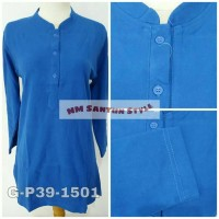 Atasan Wanita Kaos Polo G-P39-1501 Biru Elektrik