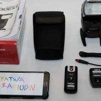 Flash Canon Speedlight 430EX II + Yongnuo Wireless Control RF-600XT