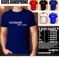 KAOS BAJU PAKAIAN TSHIRT HANDPHONE/GADGET Coolpad Sky Mini Logo Font