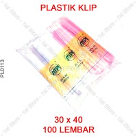 Plastik Klip 30x40 Plastic Clip 30 x 40 cm Kaos Baju Distro Pakaian PE