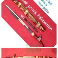 Mandau bahan per cacing senjata khas dayak Kalimantan