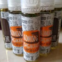Jual Komodo Breakfast Not So Lazy 60ml / 3mg . LOCAL PREMIUM LIQUID Murah