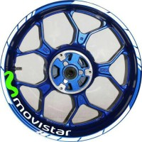 stiker velg yamaha vixion, R15, R25, Mxking Movistar ring 17