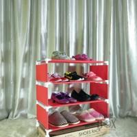 Jual Rak Portable NINE BOX Serbaguna type w4/rak sepatu 4 SUSUN Murah