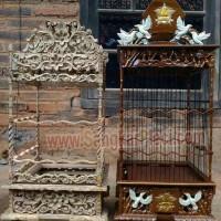 Sangkar Ukir replika Pcmi merpati vs bunga trubus kualitas B