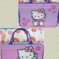 Jual Travel Bag Kanvas Koper Anak Hello Kitty Peri Ungu Murah
