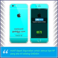 Garskin HP gambar Cyan - Iphone motif for all series handphone stiker