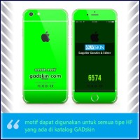 Garskin HP gambar Green - Iphone motif for all series handphone stiker