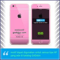 Garskin HP gambar Pink - Iphone motif for all series handphone stiker