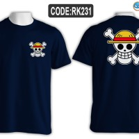 kaos anime one piece logo tengkorak luffy mugiwara