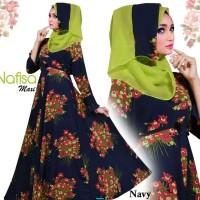 Nafisa syari-hijab modern-style-syari jumbo-gamis motif bunga-AR