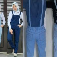 Jual Overall Celana Kodok Washed Jeans Murah
