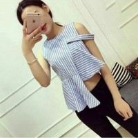 Jual PEONY TOP/ Sabrina / Kemeja/ CUT OUT TOP/ supplier baju/KOREAN STYLE Murah