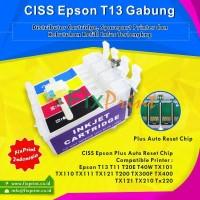 Chip Reset Cartridge CISS Printer Epson T13 T11 T20 C90 TX111 Gabung