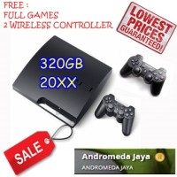 PS3 PS 3 Playstation 3 SONY Slim 320GB CFW seri 20XX HITAM