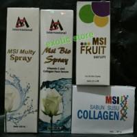 PAKET PERAWATAN WAJAH MSI - Multy Spray Collagen Spray Serum Sabun MSI