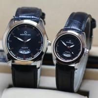 Jam Tangan Couple Montblanc M00001 KW Hitam