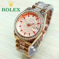 Jam Tangan Wanita Rolex RLX000012 KW Rosegold