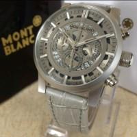 Jual Jam Tangan Pria Mont Blanc Montblanc Watch Skeleton Chronograph Grey Murah