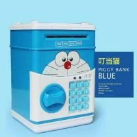 Jual Celengan ATM Deposit Box Bank Brankas Uang Minion Kitty Emon Mainan Murah