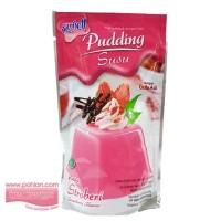 Nutrijell Pudding Susu Strawberry/ Puding Susu Stroberi 145gr