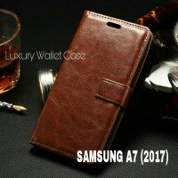 Luxury Wallet Case Samsung A7 (2017) Flip Cover Leather Case A7 2017