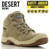 Jual Jogger Desert Brown Casual Sporty Sepatu Safety Shoes Murah