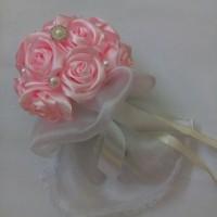 Jual Buket bunga mawar satin organdi Murah