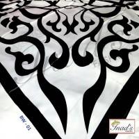 Jual Velvet hijab black and White - Hijab Turkey Murah