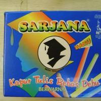 Chalk (kapur tulis) - Sarjana - Kapur papan tulis warna (50 stick x 60