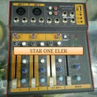 Harga mixer marcopolo f 4 4 channel effec vocal usb | Hargalu.com