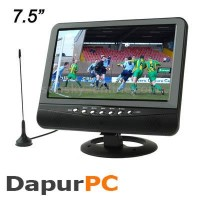 TV Portable TFT LCD Color Analog TV 7.5 Inch With Wide Limited