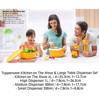 Tupperware Kitchen on The Move & Large Table Dispenser Set (Activity